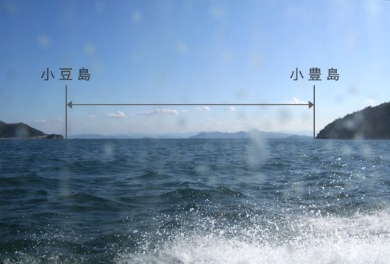 小豊島との距離
